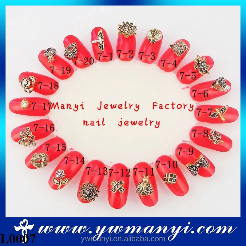 Wholesale Fashion Retro Style Charms 3D Nail Art Jewelry For Women L0007