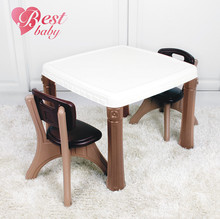 Lovely style plastic kids table and chairs for sale