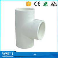 YOUU Export Products List PVC Pipe Fitting Plastic Reducing Tee For Convey Water