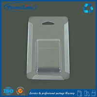 yellow kraft paper cell phone blister packaging / paper clamshell packaging box