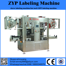 automatic shrink and sleeve round bottle and square bottle product labeling machinery making factory with brand