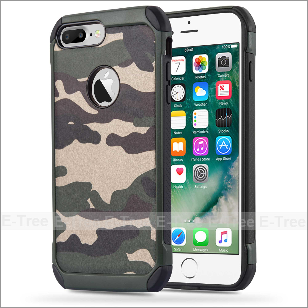 Camouflage Hard Rugged PC Phone Case for Apple iPhone 7 plus Case, Case for Apple iPhone 7 plus