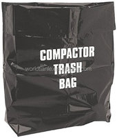 Extra Large Size Compactor Trash Bag For Industrial waste usage With 1color 2 Sides Printed,Accept Customized Order