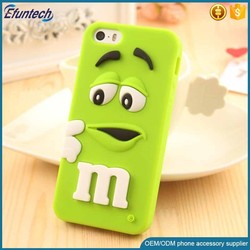 OEM shock proof M and M chocolate bean soft 3D silicone phone case for iphone 6s plus