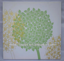 Promotional abstract silk screen canvas art printed, also can be change to flocking , embroidery , applique , ect