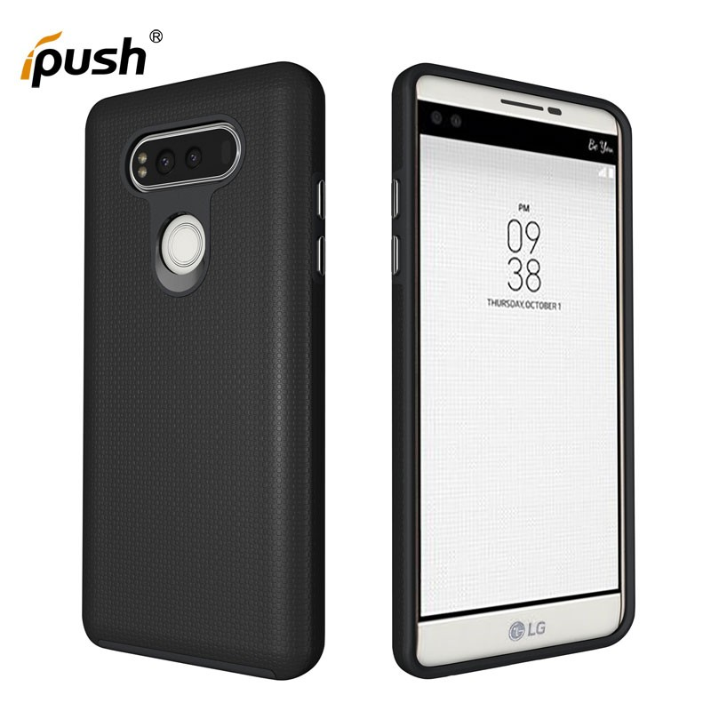 Anti-slip rugged PC+TPU combo can unbreak cover mobile phone case for LG V20