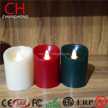 "US PATENT H 4"" Simulation Oblique LED flameless Carve Swing Flickering Candle Romantic Night Light"