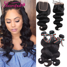Indian Body Wave Human Virgin Hair Extension And Closure Raw Indian Temple Hair