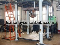Jumbo bag cement packaging machine with roller conveyor