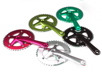 Aluminum bicycle frame freewheel crank