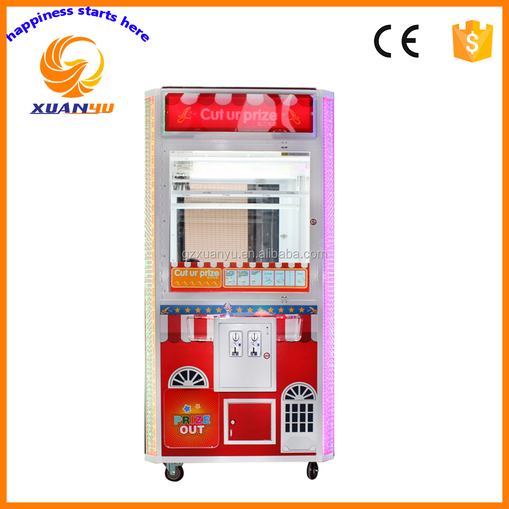 popular XY-CM009 Cut ur prize electronic capsule toy vending game machine for kids