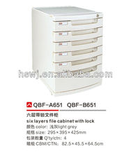 Office Furniture 6 Drawers File Cabinet With Lock