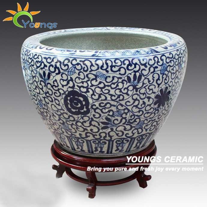 Large Chinese Crackle Glazed Ceramic Flower Pots Buy