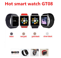 bluetooth smart watch GT08 wrist watch for apple/samsung ios/android phones wearable smartwatch sport wristwatch PK U watch U8