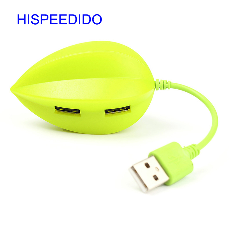 High Speed Cute Carambola Shape USB 2.0 Network Hub 4-Port Sharing Switch For Laptop PC