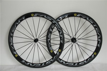 3k glossy finish 50mm carbon wheels road bicycle 700c carbon rims with powerway R13 hubs wholesale