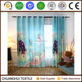 the little flying elephant digital printed customized kids curtain