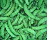fresh green frozen sugar snap pea
