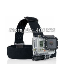 Elastic Adjustable Gopros Head Strap For Go Pro Heros 4 3+/3/2/1, with anti-slide glue, with Go pro storage bag ADK-GP23