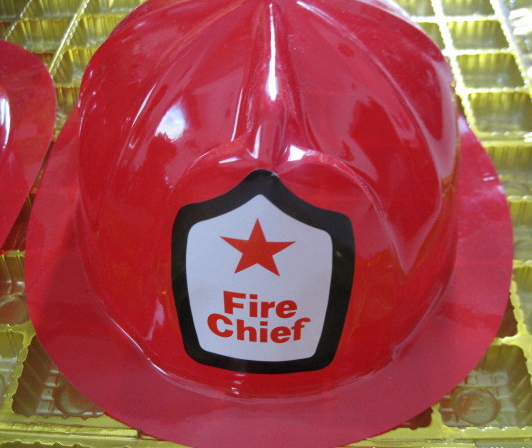 good price Party Novelty fire chief Fireman red plastic toy helmet hat
