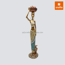 Polyresin african adult black figurines wholesale
