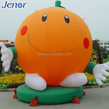 Orange inflatable cartoon balloon for square decoration