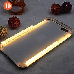 Best selling amazing illuminated led selfie light cell phone case wholesales for iPhone 5 5S 6 6S SE plus
