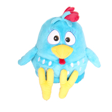 cheap promotion hot sale blue plush chicken toy