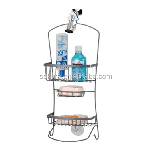 2-TIER CHROME WIRE STORAGE RACK,hanging bathroom hight quality shower caddy