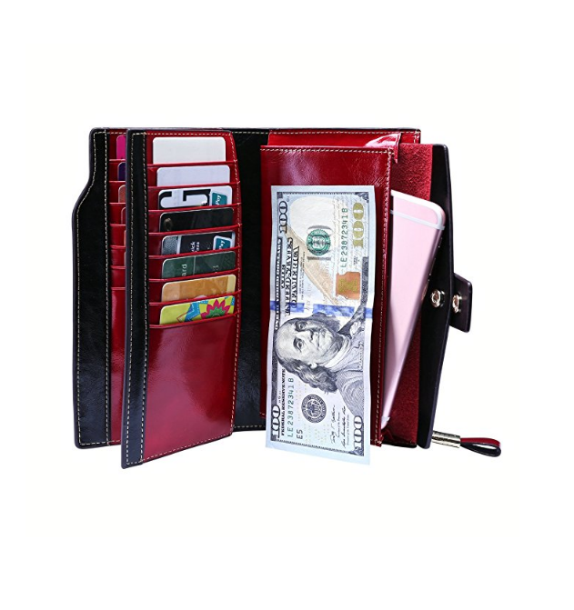 Large Capacity Luxury Leather Wallet Card Holder Ladies Purse wallets for women