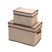 Wholesale linen non woven fabric foldable underwear storage boxes, clothing organizer