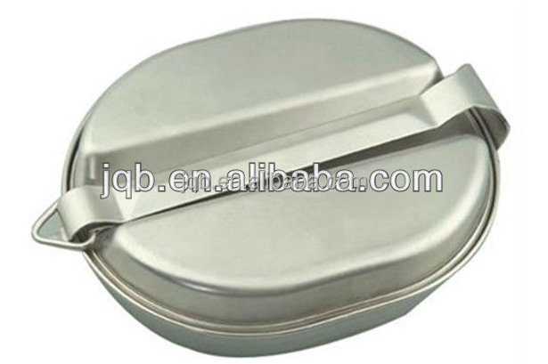 Military lunch box of stainless steel 202 material or aluminum with mirror polishing and low price