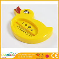 Kid and Baby Bath Floating Small Duck Toy and Bath Tub Sensor Thermometer yelow