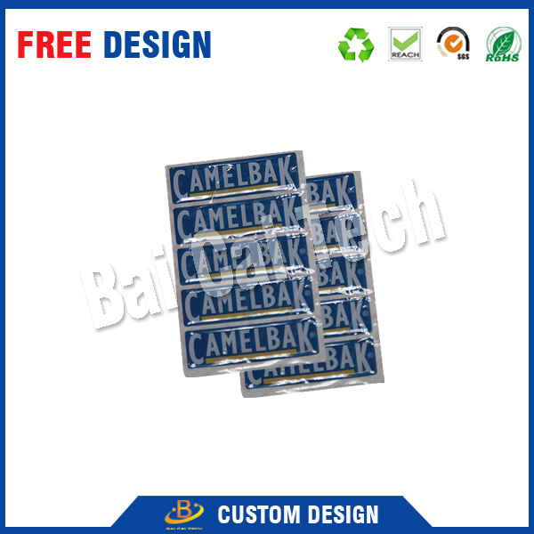 High quality waterproof custom logo clear PU 3M epoxy resin letter