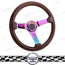 350mm wood car steering wheel , JDM woodgrain steering wheel