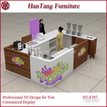2015-2016 popular 3d juice kiosk design with your demands/requirements/floor plan