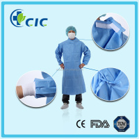 blue color m/l/xl/xxl size hospital coat surgical gown with belt sleeve