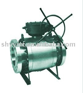 Slip body Ball valve , Trunnion Mounted ball valve, gear operated A105,
