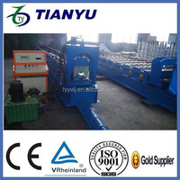 Color Coated Metal Sheet Roof Tile Ridge Cap Tile Cold Roll Forming Machine Colored Steel Profile Galvanized Cap Making Machine