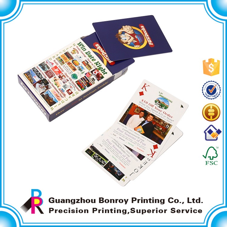 Educational flash cards printing/poker cards