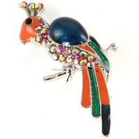 Peacock Pin Brooch