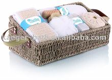 seaweed basket&hemp bath set gift product