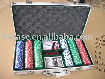 2014 new design Aluminum packing 300 holds poker set ,chips case ,chips set