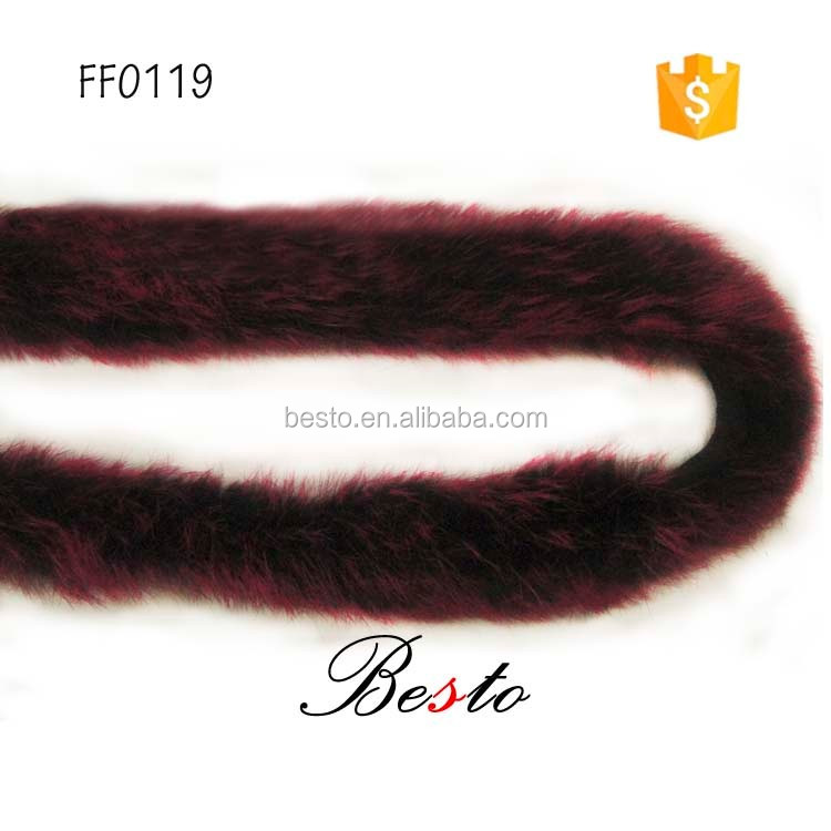 Autumn and winter high-end new top fashion feather boa cheap Dyed bulk red