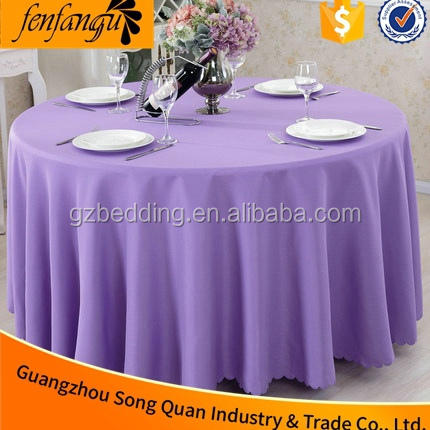 Rectangle, Square, Round Beige Polyester Jacquard Plain Satin Round Tablecloth For Restaurant, Hotel and Wedding reception