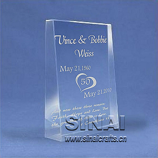 Luxury Very Beautiful Souvenir Gift Inclined Plane Crystal Awards