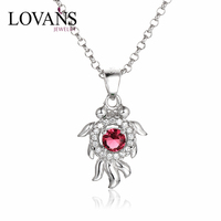 925 Sterling Silver Long Pendant Necklaces For Young Grils Famous Brands Jewelry SPG822WB