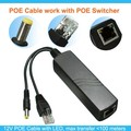 Compatible POE Switch 1CH POE Cable 12V POE Injector