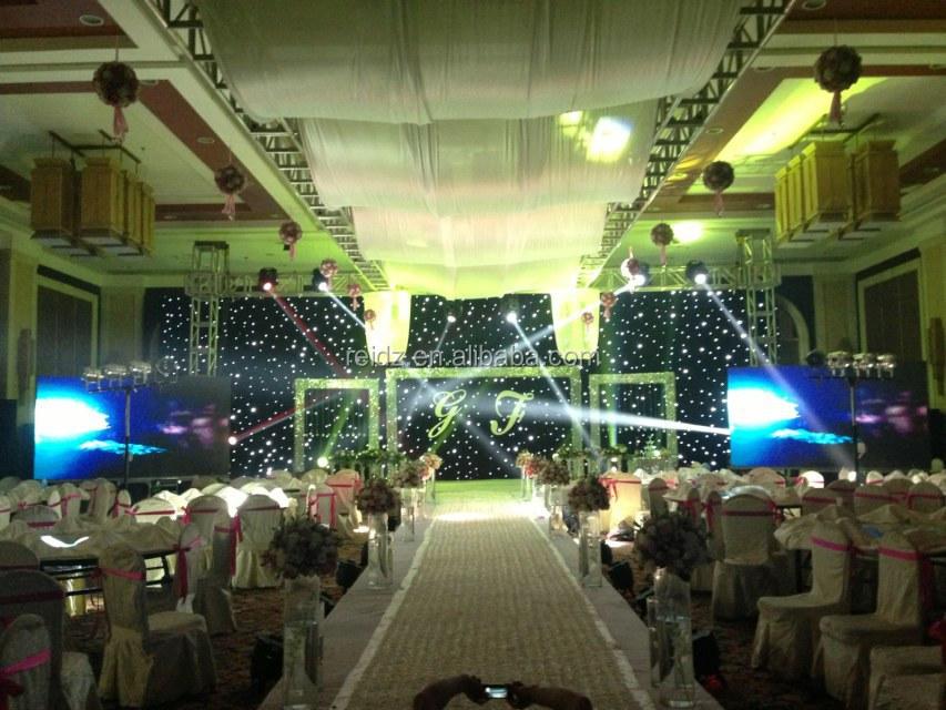 Indoor wedding decor muslim wedding decoration white for Indoor stage decoration