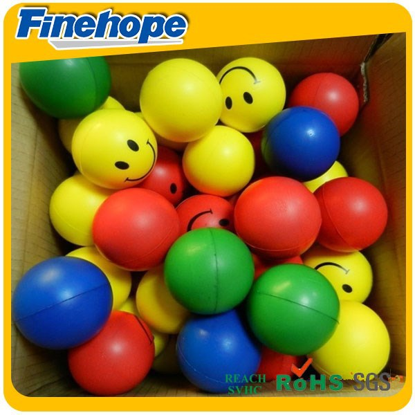 Smiley Face Stress Ball PU Polyurethane Soft Foam Toy Ball Cube Dice Anti Stress OEM Customize Manufacturer
